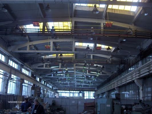 Лъчисто отопление за производствени предприятия, Лъчисто отопление, лъчисто-газово отопление, газово-лъчисто отопление, отопление за халета, промишлено отопление