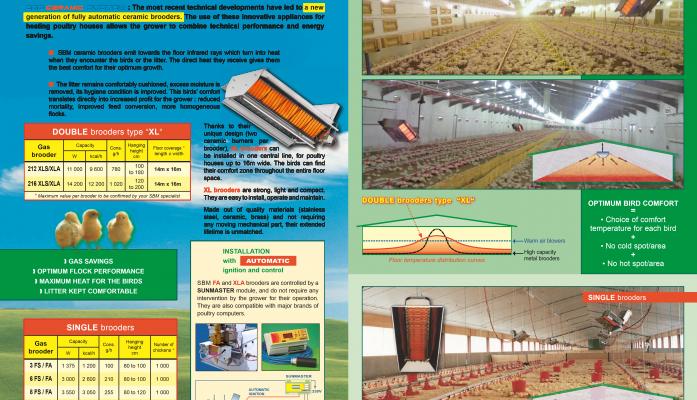 СВМ - лъчистото-газово отопление в птицевъдството